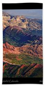 Colorful Colorado Rocky Mountains Planet Art Poster  Beach Towel