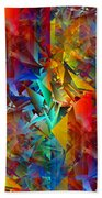 Colorful Crash 11 Beach Towel