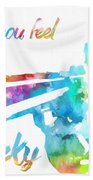 Colorful Dirty Harry Beach Towel