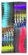 Colorful Distortions Beach Towel