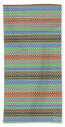 Colorful Dots N Mini Circles In Line Patterns With Background Textures Fineartamerica.com Licensing  Beach Towel