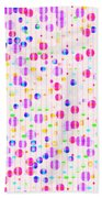 Colorful Dots On Pink Beach Towel