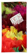 Colorful Easter Feathers Beach Towel