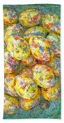 Colorful Eggs Beach Towel