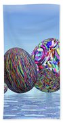 Colorful Eggs For Easter - 3d Render Beach Towel