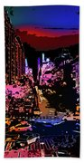 Colorful Evening Shadows Beach Towel