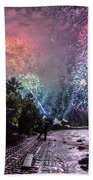 Colorful Explosions Beach Towel