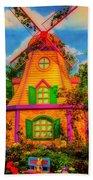 Colorful Fantasy Windmill Beach Towel