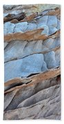Colorful Fins Of Sandstone In Valley Of Fire Beach Towel