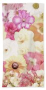 Colorful Floral Background Beach Towel