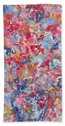 Colorful Floral Bouquet. Beach Towel