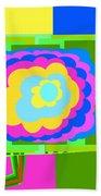 Colorful Flower  Beach Towel