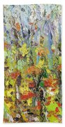 Colorful Forest Beach Sheet