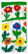 Colorful Garden Beach Towel
