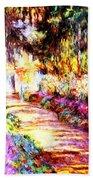 Colorful Garden Beach Towel