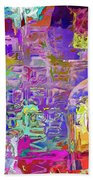 Colorful Glass Bottles Abstract Beach Towel
