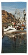 Colorful Harbor Beach Towel