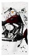 Colorful Harley Davidson Paint Splatter Beach Towel