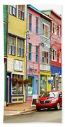 Colorful Houses In St Johns In Newfoundland Beach Towel