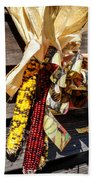 Colorful Indian Corn Decorations Beach Towel