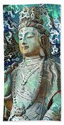 Colorful Indian Diety Figure Beach Towel