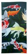 Colorful Koi Beach Towel