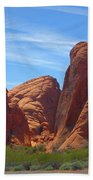 Colorful Landscape Rock Mountains Of Overton Nevada  Beach Sheet