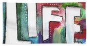 Colorful Life- Art By Linda Woods Beach Towel