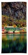 Colorful Lofoten, Norway Beach Towel