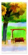 Colorful Maple Tree In The Autumn Beach Towel