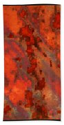 Colorful Metal Abstract With Border Beach Towel