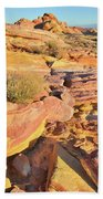 Colorful Morning At Valley Of Fire Beach Towel