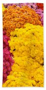 Colorful Mum Flowers Fine Art Abstract Photo Beach Towel