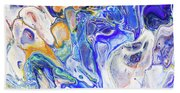 Colorful Night Dreams 5. Abstract Fluid Acrylic Painting Beach Towel