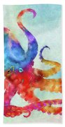Colorful Octopus Beach Towel