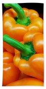 Colorful Orange Bell Peppers Beach Towel