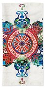 Colorful Pattern Art - Color Fusion Design 3 By Sharon Cummings Beach Towel