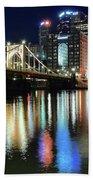 Colorful Pittsburgh Lights Beach Towel