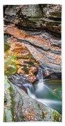 Colorful Pool In The Gorge Of Watkins Glen Beach Towel