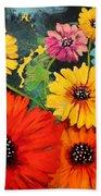 Colorful Poppy Warm No.1 Beach Towel