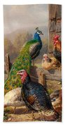 Colorful Poultry Beach Towel