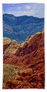 Colorful Red Rock Beach Towel