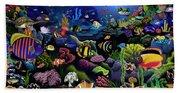 Colorful Reef Beach Towel