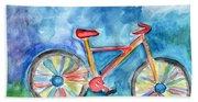 Colorful Ride- Bike Art By Linda Woods Beach Sheet