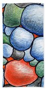 Colorful Rock Abstract Beach Towel