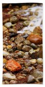 Colorful Rocks With Waterfall Beach Towel