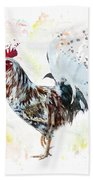 Colorful Rooster Beach Towel