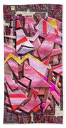 Colorful Scrap Metal Beach Towel