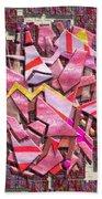 Colorful Scrap Metal Beach Towel