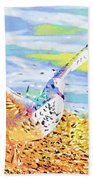 Colorful Seagull Beach Towel